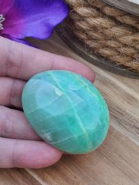 Groene maansteen handsteen ( nr 1)