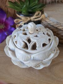 Lotus wierook/kegelbrander wit