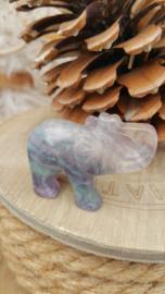 Regenboog Fluoriet olifant (nr 1)