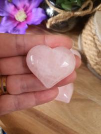 Rozenkwarts hart +/- 4 cm