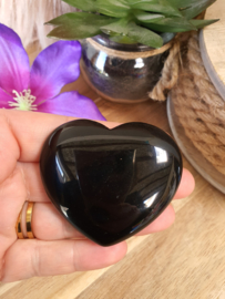Obsidiaan hart 60mm