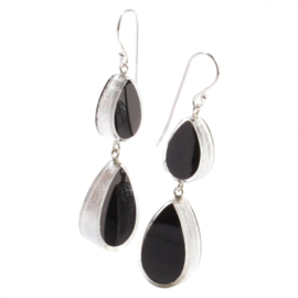 ZSISKA earrings black silver VOGUE