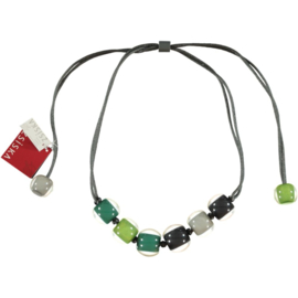 ZSISKA necklace green grey, BALL'S