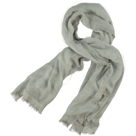 D&A scarf light grey 2 layers chiffon & cotton