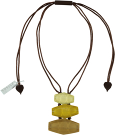 ZSISKA necklace yellow mustard 3 elements  SHADES.