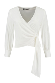 ELSEWHERE wikkel blouse -  off-white block