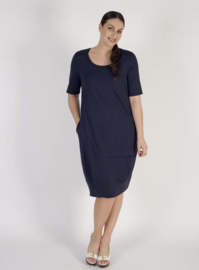VETONO dress jersey, navy with 2 pockets
