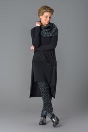 ELSEWHERE  tuniek / jurk zwart  jersey, basic - lengte 90 cm. STYLE 1247