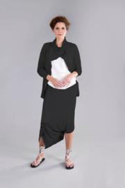 ELSEWHERE jasje reliëf jersey zwart STYLE 3247