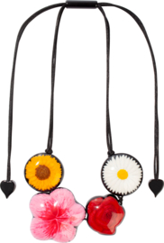 ZSISKA necklace mix colour flowers, FRIDA