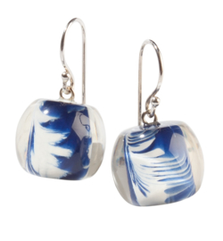ZSISKA earrings Delfts blue white,  Ball's DELFT