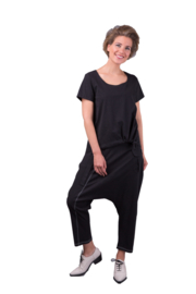 ELSEWHERE pants dhoti style EVY - black, Linen