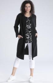 Zwart jasje in techno travel jersey 75 cm Vetono