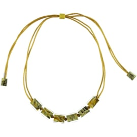 ZSISKA necklace yellow ochre, adjustable CUBES