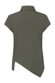 ELSEWHERE top SAM- olijf travel / tech jersey