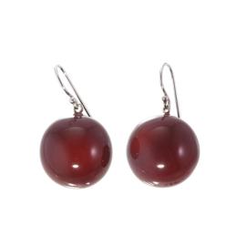 ZSISKA earrings red dark  BOLAS