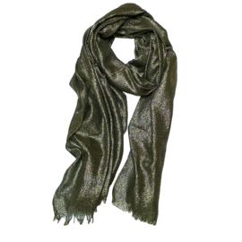 Stola sjaal zwart goud lurex