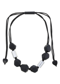 ZSISKA necklace black & silver DOLOMITES