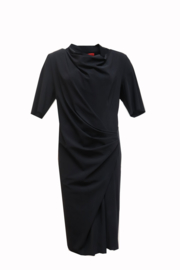 VETONO BLACK dress in  travel techno jersey