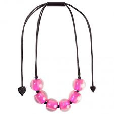 ZSISKA necklace pink spectrum. BALL'S