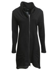 ELSEWHERE vest  - tussenjas zwart joggingstof. STYLE 3112