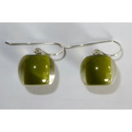 ZSISKA oorbellen groen olijf Balls