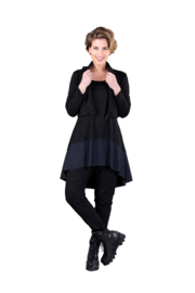 ELSEWHERE tunic black jersey combined with techno STYLE 3355A