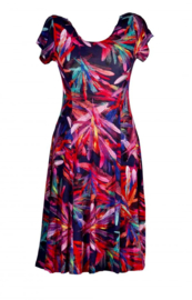 PAPILLON summer dress abstracte print STYLE IBIZA