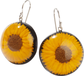 ZSISKA earrings yellow sunflower  FRIDA KAHLO