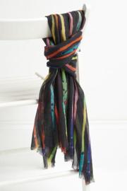 Jo Edwards regenboogsjaal, 100% merino wol, 70 x 180cm