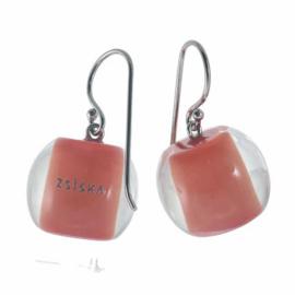 ZSISKA oorbellen rood koraal COLOURFUL BEADS