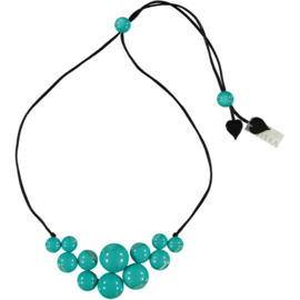 ZSISKA necklace turquoise 14 beads BOLAS
