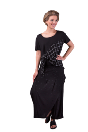 ELSEWHERE overslag broek - zwart jersey dot