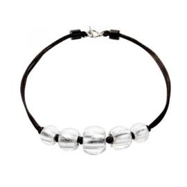ZSISKA necklace silver 5 balls choker. PRECIOUS