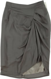 ELSEWHERE skirt in light grey satin. SIZE S .STYLE 2026