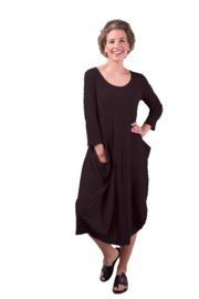 ELSEWHERE jurk CATO - zwart structuur jersey