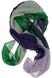A-zone  scarf purple lilac with emerald green 140 x 140 cm!