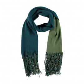 A-Zone winter scarfl green dip dye. 90x200cm