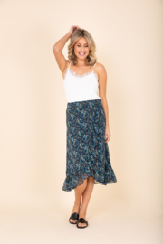 C&S Spring skirt in minimal bloem print