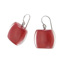 ZSISKA earrings red dark, BELLISSIMA