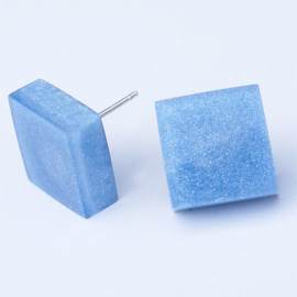 ZSISKA earrings blue studs SQUARE