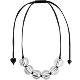 ZSISKA necklace Silver 6 beads PRESCIOUS