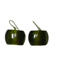 ZSISKA oorbellen groen olijf BELLISSIMA