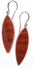 ZSISKA oorbellen rood JUNO