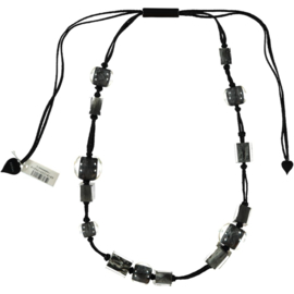 ZSISKA necklace grey melange, Cubes & Balls
