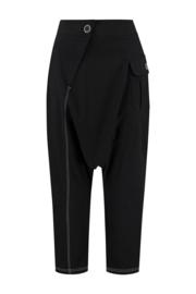 ELSEWHERE broek dhoti stijl  EVY - zwart linnen