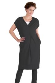 ELSEWHERE jurk /tuniek - zwart reliëf jersey