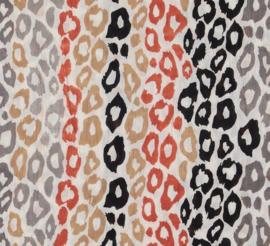 A-zone sjaal tijgerprint 100% katoen- lurex accent. 50 x 180cm