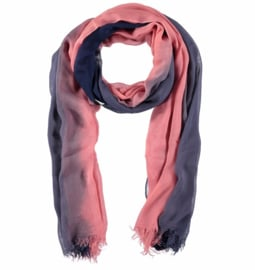 A-Zone scarf ombre col pink and jeans blue  viscose 90 x 180cm
