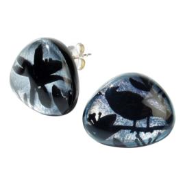 ZSISKA oorbellen zilver zwart stekers PARADISO chique